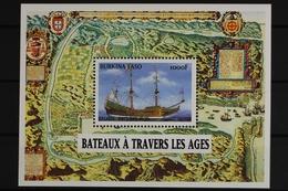 Burkina Faso, Schiffe, MiNr. Block 188, Postfrisch / MNH - Burkina Faso (1984-...)