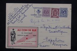 BELGIQUE - Entier Postal Publibel ( Au Coin De La Rue ) + Complément De Gand Pour La France En 1952 - L 22115 - Stamped Stationery