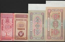 B 79 - MONGOLIE Lot De 4 Billets états Neufs - Mongolie
