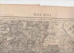Rocroi (08 Ardennes)) Carte D'état-major N/b Révisée En 1897 (PPP10167) - Carte Topografiche