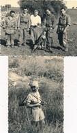 I47 - N° 53 - MILITARIA - Guerre D'Algérie - Retour De La Chasse Aux Lièvres - Lot De 2 Photos - War, Military