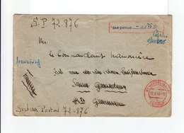 Sur Enveloppe Pour La France Cachet Rouge St Wendel. Saar. 12 Juin 1946. Bezahlt. Cachet Taxe Perçue. (1067x) - 1947-56 Occupazione Alleata
