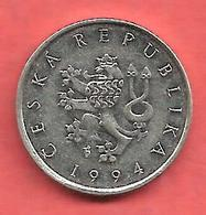 1 Koruna , République TCHEQUE , Nickel , 1994 , N° KM # 7 - Czechoslovakia