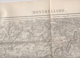 Montbéliard (25 Doubs) Carte D'état-Major En N/b Révisée En 1913  (PPP10168) - Carte Topografiche