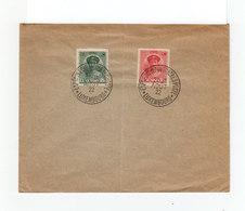 Sur Enveloppe Deux Timbres Luxembourg Cachet Exposition Internationale Timbres Postes Août 1922. (1068x) - Luxembourg