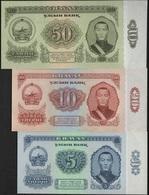 B 80 - MONGOLIE Lot De 3 Billets De 5 10 Et 50 Tugrik De 1966 états Neufs - Mongolie