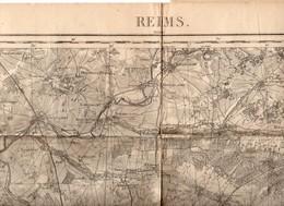 Reims (51 Marne)  Carte D'état-Major En N/b Révisée En 1913  (PPP10169) - Cartes Topographiques