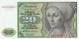 Germany 20 DEM 1960 EF - [ 7] 1949-… : RFA - Rep. Fed. Tedesca