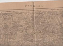 Cambrai (59 Nord)   Carte D'état-Major En N/b Révisée En 1914  (PPP10170) - Cartes Topographiques