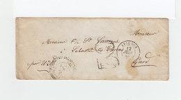 Sur Enveloppe CAD Avignon 1856. Taxe Tampon 30. CAS Lussan. (1070x) - Marcophilie (Lettres)
