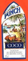 étiquette De Punch Coco Au Rhum Blanc Et Arome Coco - 70 Cl - Rhum