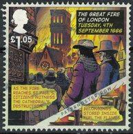 Royaume Uni 2016 Oblitéré Used Grand Incendie De Londres 1666 Destruction Cathédrale Saint Paul - Oblitérés