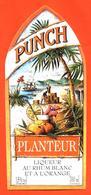 étiquette De Punch Planteur Au Rhum Blanc Et à L'orange - 70 Cl - Rhum