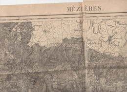 Mézières (08 Ardennes)    Carte D'état-Major En N/b Révisée En 1897  (PPP10171) - Cartes Topographiques