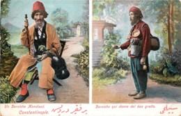 Turquie - Constantinople - Un Derviche Mendiant Et Un Derviche Qui Donne De L' Eau Gratis - Turquie