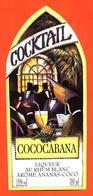 étiquette De Punch Cocktail Au Rhum Blanc Cococabana à Ananas Coco - 70 Cl - Rhum