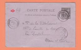 CACHET LORRIS LOIRET   SUR CARTE POSTALE + CACHET OR - Posta Ferroviaria