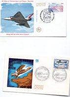 Lot De  5  Enveloppes 1ER JOUR   Theme Aviation   Annee Tampon 1968.1981.1998.1999.1982 - Aerei