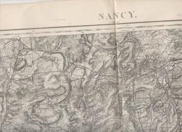 Nancy (Meurthe Et Moselle)    Carte D'état-Major En N/b Révisée En 1912  (PPP10172) - Cartes Topographiques