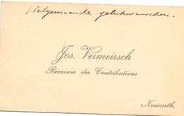 Visitekaartje - Carte Visite - Receveur Des Contrebutions Jos Vermeirsch - Nazareth - Visitenkarten
