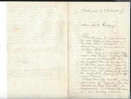 SALAMANCA  ( Guillouzier ?  , D'Espeuilles  ) , Correspondance    MEXIQUE - MEXICO Autographe  Décembre  1865 - Autógrafos