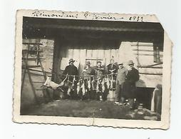Photographie Alsace 1932 Chasse Gibier écrit Bollwiller 68 Haut Rhin Photo 6x8,5 Cm - Lieux