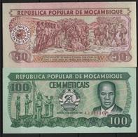 B 84 - MOZAMBIQUE 2 Billets De 50 Et 100 Meticais états Neufs - Mozambique