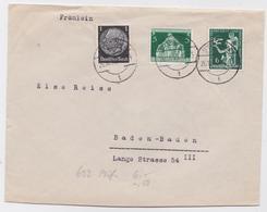 LETTRE STETTIN BRIEF SZCZECIN IIIe REICH MAIL COVER 1936 - Allemagne