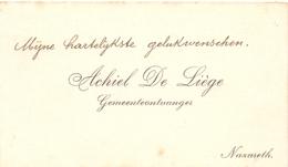 Visitekaartje - Carte Visite - Gemeenteontvanger Achiel De Liège  - Nazareth - Visitenkarten