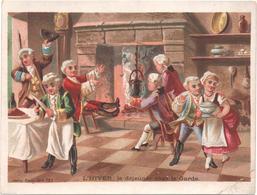 Figurina, Chromo, Victorian Trade Card. Grand Format. L'automne, Dans Les Vignes. Aubry. - Autres