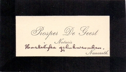 Visitekaartje - Carte Visite - Notaris Prosper De Geest - Nazareth - Visitenkarten