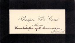 Visitekaartje - Carte Visite - Notaris Prosper De Geest - Nazareth - Cartes De Visite
