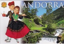CARTE BRODEE:  ANDORRA  La Vallée - Brodées