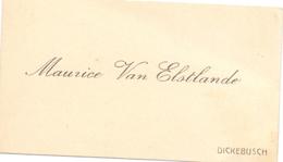 Visitekaartje - Carte Visite - Maurice Van Elstlande - Dikkebus - Cartes De Visite