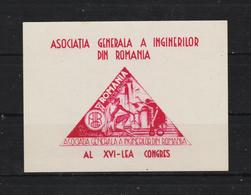 1945 - 16 Congres Des Ingenieurs Mi No Block  30 - 1918-1948 Ferdinand, Carol II. & Mihai I.