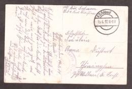 """Cachet Violet """"Kavallerie Division"""" Sur Carte Postal """"Facteur"""" - 1917 - Guerre Mondiale (Première)"""