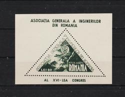 1945 - 16 Congres Des Ingenieurs Mi No Bl 29 - 1918-1948 Ferdinand, Carol II. & Mihai I.
