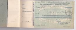 CARNET DE CHEQUES TRESORERIE GENERALE DES BOUCHES DU RHONE / 40 CHEQUES - Cheques & Traveler's Cheques