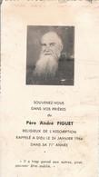 Généalogie-faire-part De Décés-carte-mortuaire : Père : A. FIGUET : Religieux De L'assomption ( 1966 ) - Todesanzeige