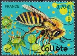 France 2016 Oblitéré Used Insectes Les Abeilles Solitaires Collète Y&T 5051 - France