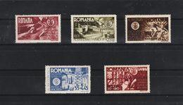 1945 - 16 Congres Des Ingenieurs Mi 903/907  MNH - 1918-1948 Ferdinand, Carol II. & Mihai I.