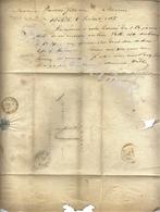 J.J. BUSEZ  BÄLE  Lettre Concernant Tabac à PLAIDEAU  Fils Ainé  Letrre Couru  Départ BASEL 05 Juillet 1857 - Suisse
