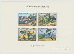 "Monaco : Bloc "" Les Quatre Saisons 1990 "" - Neuf ** - - Ungebraucht"