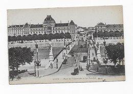 CPA 69 LYON Pont De L' Université Et Les Facultés  1916 Cachet 1er Régiment Etranger - Lyon 2