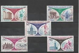 Centrafrique Oblitéré 1972   Poste Aérienne N° 110/114   Sport. Rétrospective Des Jeux Olympiques - Centrafricaine (République)
