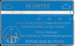 CARTE MAGNETIQUE-TCHAD-60U-BLEU-V° N° En Bas A Droite Inversé-903C14180-Utilisé-BE - Tchad