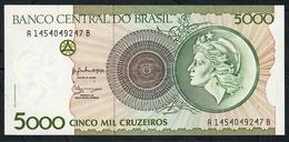 BRAZIL P227 5000 CRUZEIROS (1990) Sign.28 #A1454------A    UNC. - Brésil
