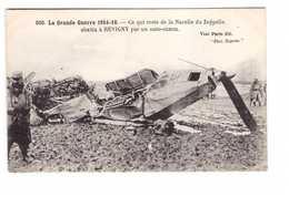 Guerre 1914 1918 Grande Guerre 1916 Reste Nacelle Du Zeppelin Abattu A Revigny Par Un Auto Canon - Guerra 1914-18