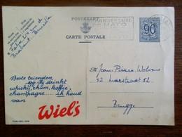 Beschreven Postkaart  1952  Met  REKLAME  Van   Verdwenen  Brouwerij         WIEL' S - Alcools