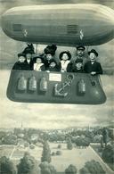 ZEPPELIN  Carte-Photo  (Famille Avec Décors De Zeppelin) - Photographie